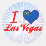 Amo Las Vegas, Nevada Pegatinas Redondas