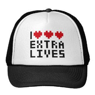 Amo las vidas adicionales del corazón tema retro gorro de camionero
