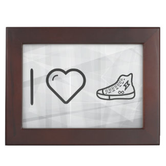 Amo las zapatillas de deporte caja de recuerdos