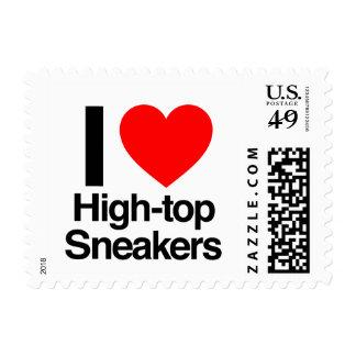 amo las zapatillas de deporte del alto-top sellos