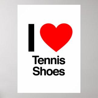 amo las zapatos tenis impresiones