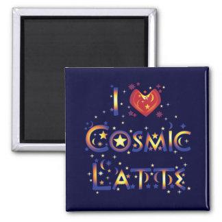 Amo Latte cósmico Imán