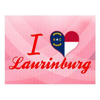 Amo Laurinburg, Carolina del Norte Tarjeta Postal