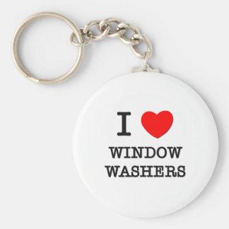 Amo lavadoras de ventana llaveros personalizados
