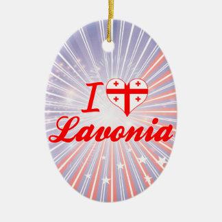 Amo Lavonia, Georgia Adorno Navideño Ovalado De Cerámica