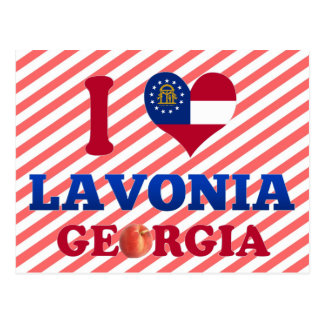 Amo Lavonia, Georgia Tarjeta Postal