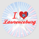 Amo Lawrenceburg, Tennessee Pegatina Redonda