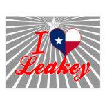 Amo Leakey, Tejas Tarjetas Postales