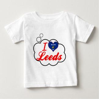 Amo Leeds, Wisconsin Playera Para Bebé