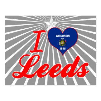 Amo Leeds, Wisconsin Tarjetas Postales