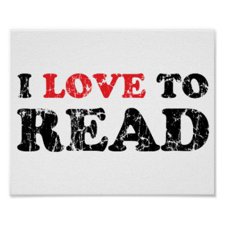 Amo leer apenado póster