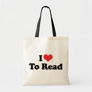 Amo leer bolsa de mano