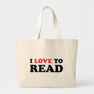 Amo leer bolsas lienzo