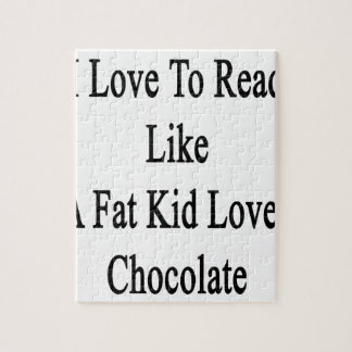 Amo leer como un chocolate de los amores del niño puzzle