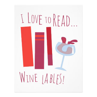Amo leer… Etiqueta del vino Plantillas De Membrete