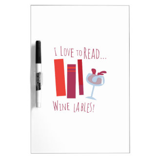 Amo leer… Etiqueta del vino Tablero Blanco