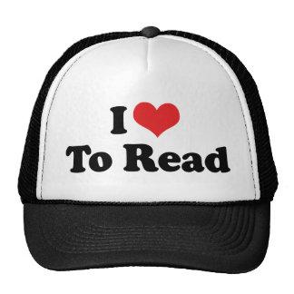 Amo leer gorras
