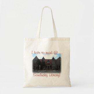 Amo leer @ la biblioteca de Sandusky Bolsa Tela Barata