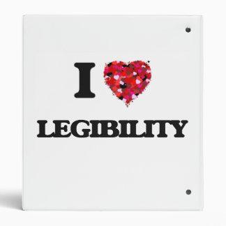 "Amo legibilidad carpeta 1"""