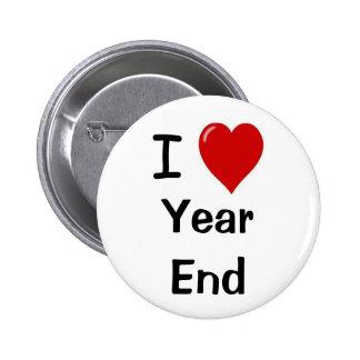 Amo lema de finales de ano del equipo de la contab pin redondo de 2 pulgadas