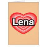 Amo Lena. Te amo Lena. Corazón Felicitaciones