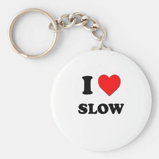 Amo lento llaveros personalizados