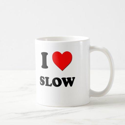Amo lento taza básica blanca