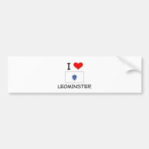Amo Leominster Massachusetts Etiqueta De Parachoque