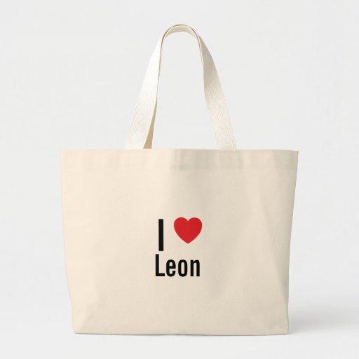 Amo León Bolsa Tela Grande