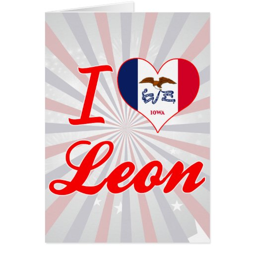 Amo León, Iowa Tarjetas