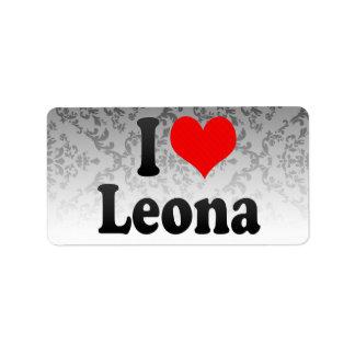 Amo Leona Etiquetas De Dirección