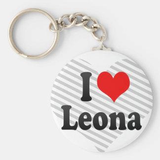 Amo Leona Llavero Redondo Tipo Pin