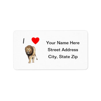 Amo leones (3) etiquetas de dirección