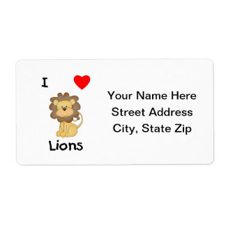 Amo leones (4) etiquetas de envío