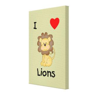Amo leones 4 impresiones de lienzo