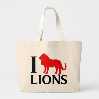 Amo leones bolsas lienzo
