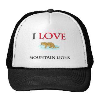 Amo leones de montaña gorra