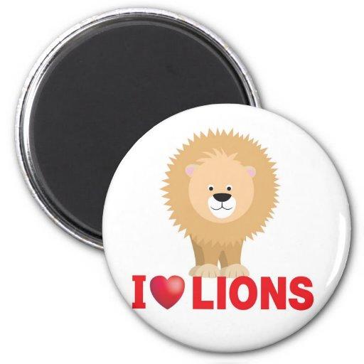 amo leones imán de nevera