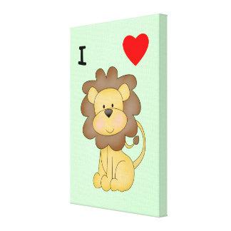 Amo leones impresión de lienzo