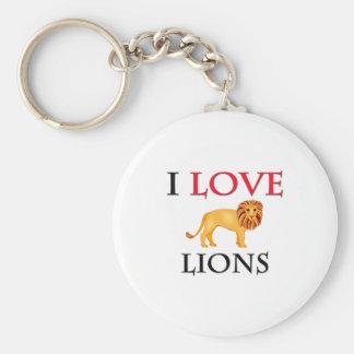 Amo leones llavero redondo tipo pin