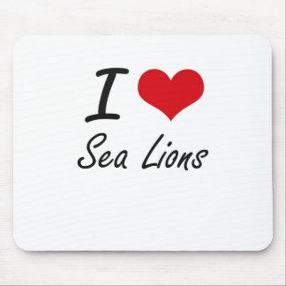 Amo leones marinos mouse pad