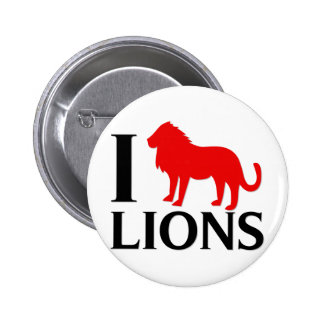 Amo leones pin redondo de 2 pulgadas