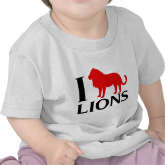 Amo leones camiseta