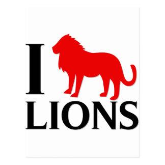 Amo leones postal