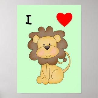 Amo leones póster