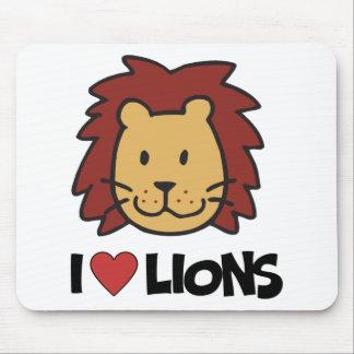 Amo leones tapetes de ratón