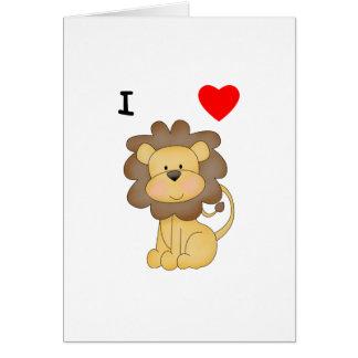 Amo leones tarjeta pequeña