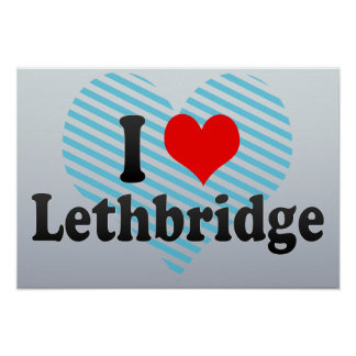 Amo Lethbridge Canadá Impresiones