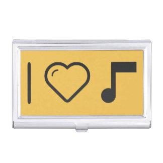 Amo letras de la música caja de tarjetas de visita