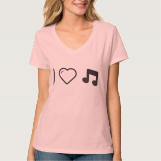 Amo letras de la música camisas